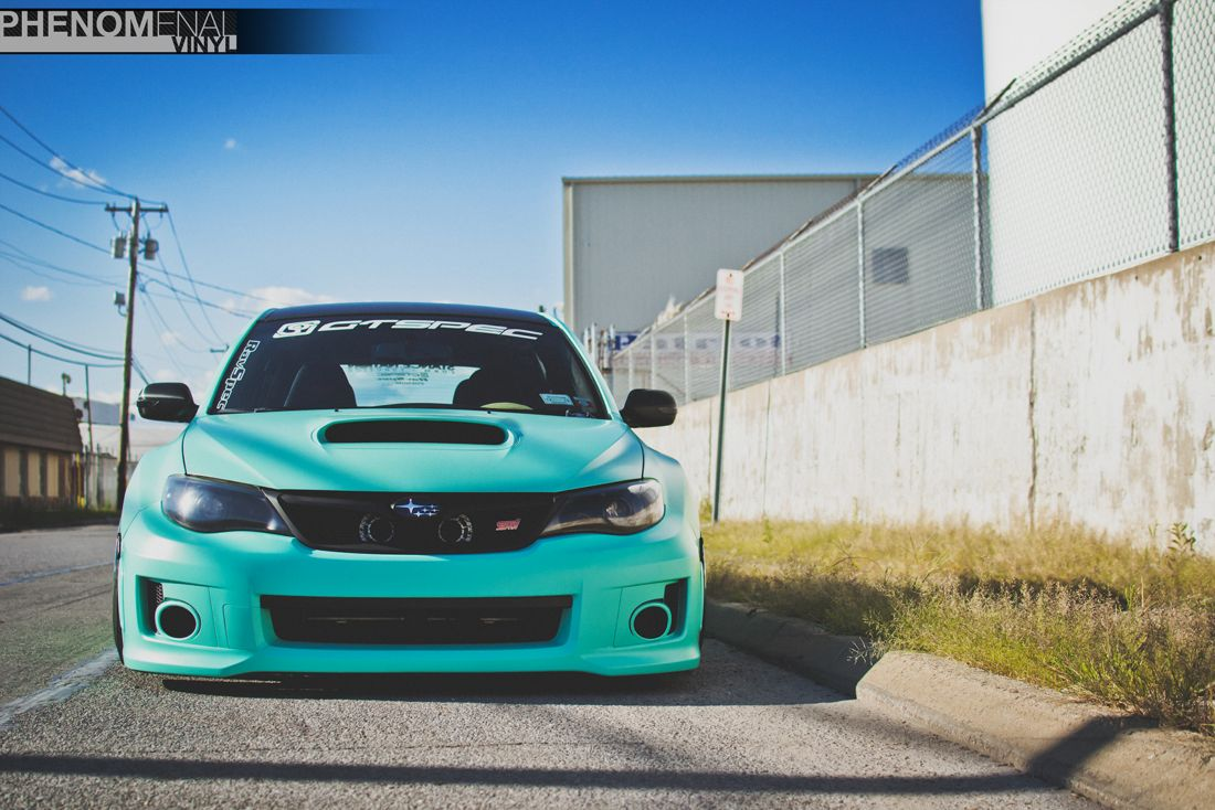 2013 Wrx Sti In Mint Green Phenomenalvinyl