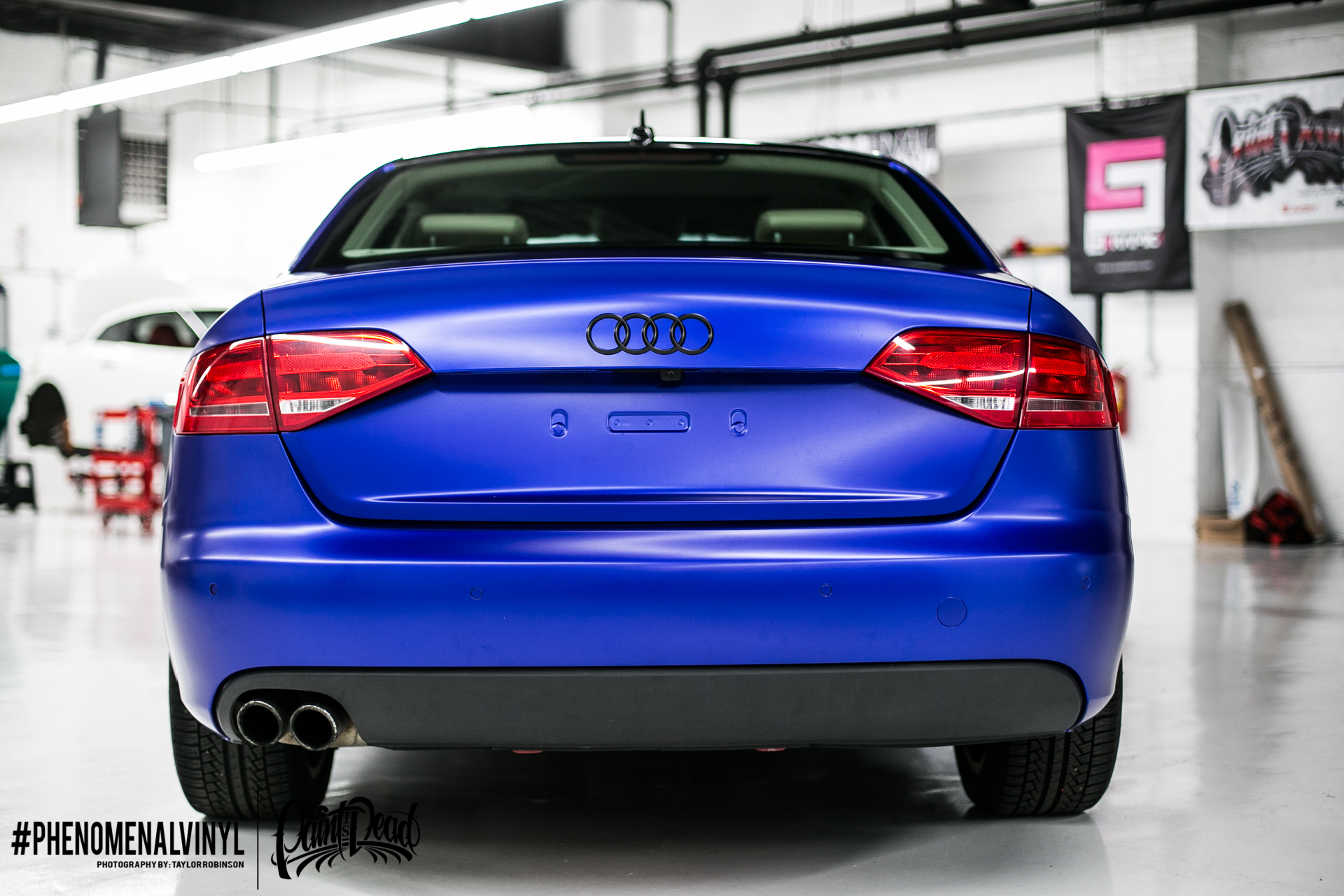 Audi A4 Wrapped In Satin Mystic Blue