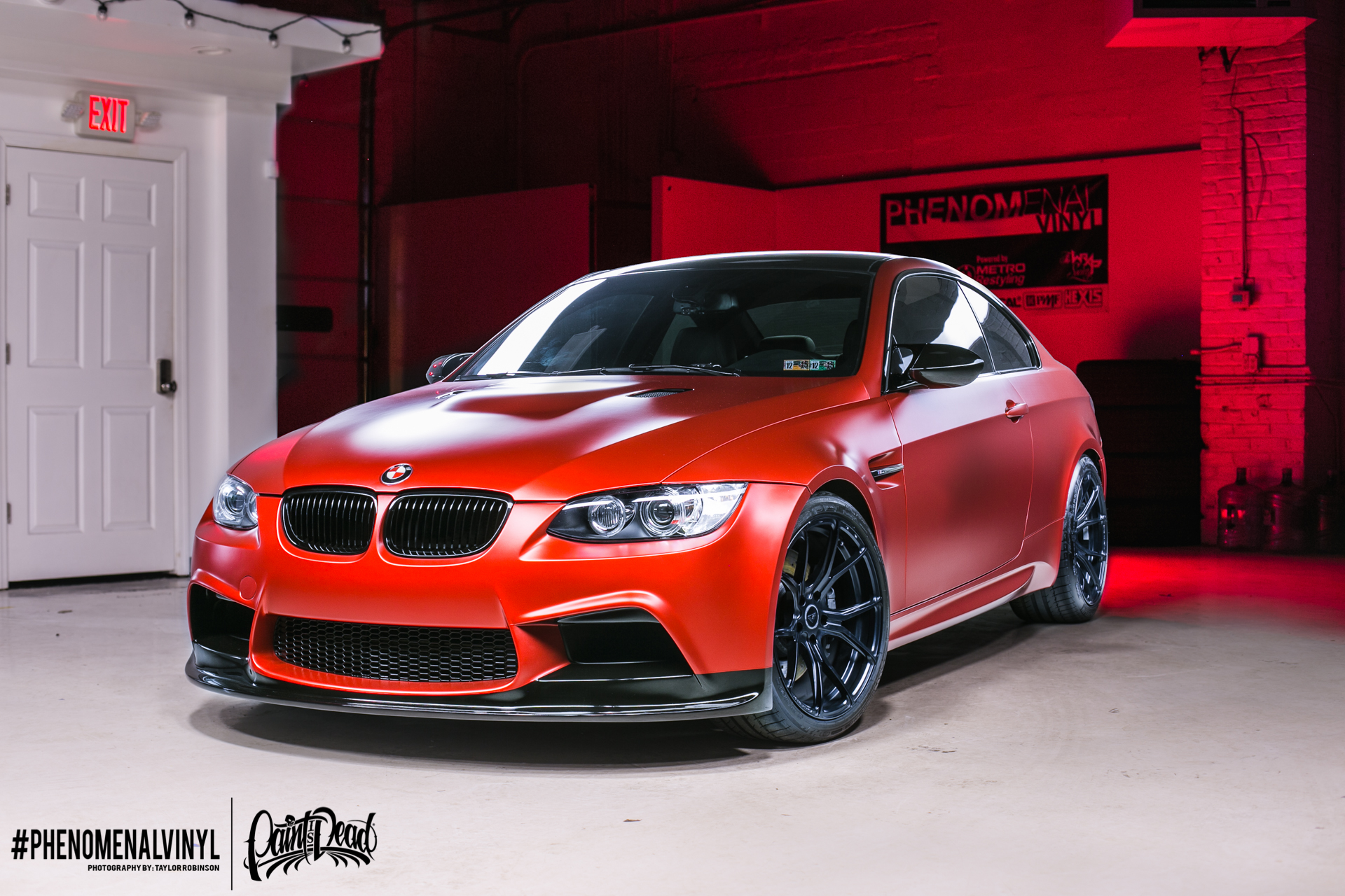 bmw m3 in satin candy red phenomenalvinyl. Black Bedroom Furniture Sets. Home Design Ideas