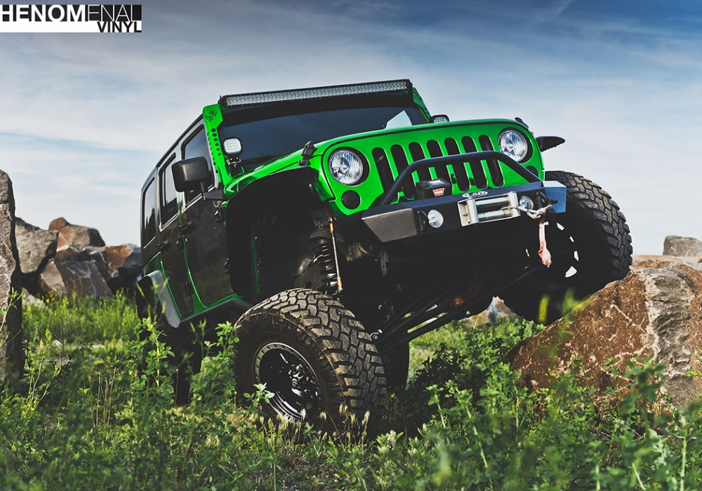2009 Jeep Wrangler in Chrome Green