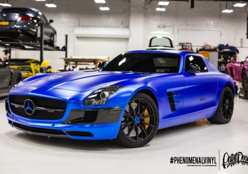 2014 SLS AMG GT in Satin Blue Chrome