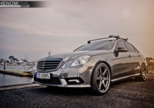 2009 Mercedes E350 in Black Chrome