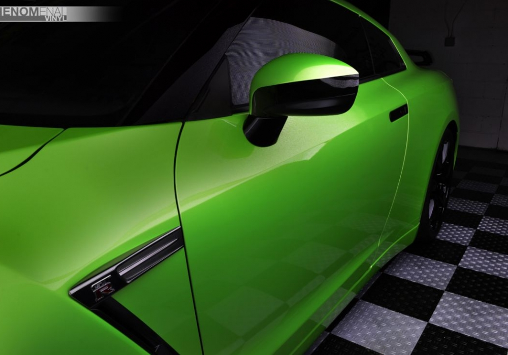 2010 Nissan GTR in Lime Green