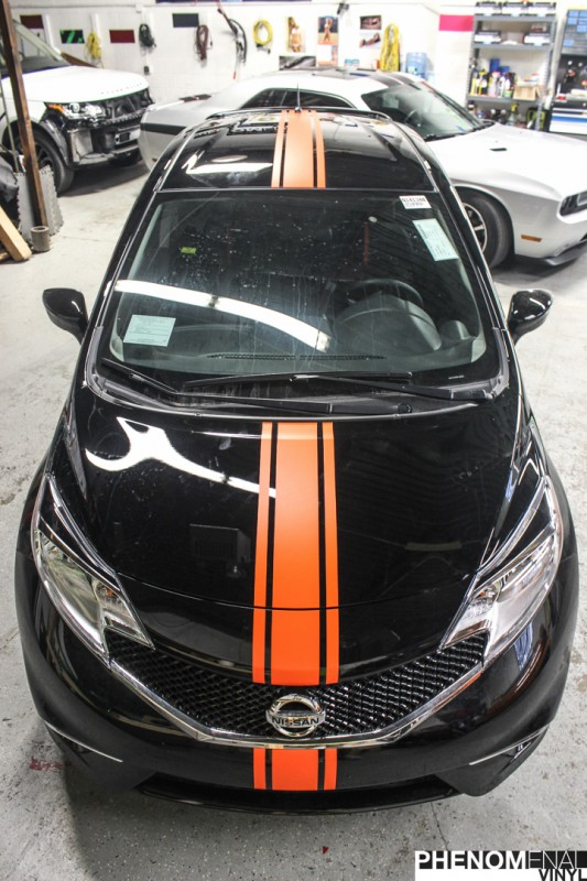 Nissan Orange Striping-2