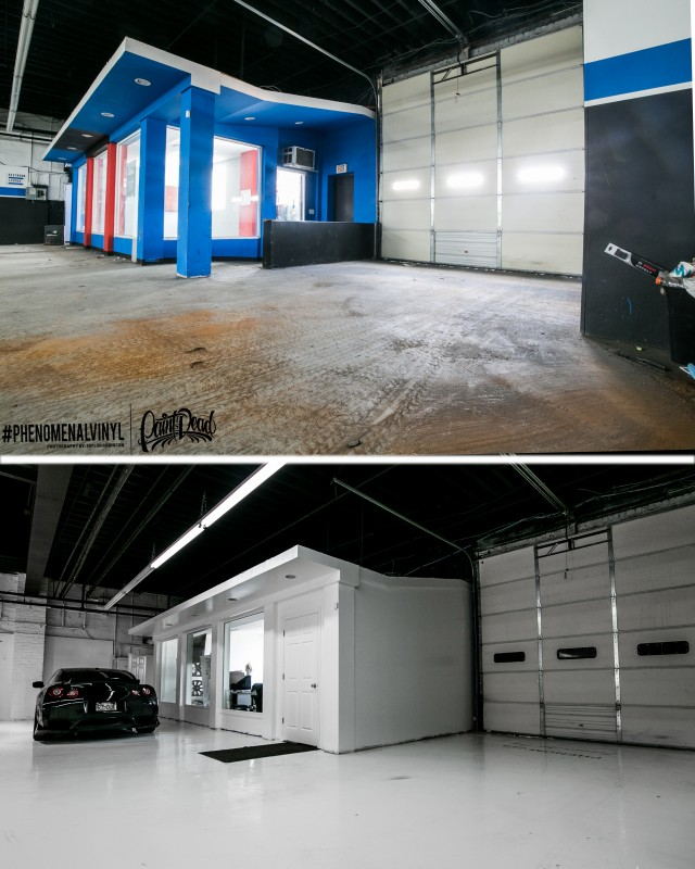 New Shop Before & After